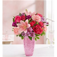 sweet-medley-for-mom-beautiful-pink-vase